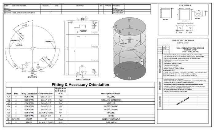 Tank Partner 750 BBL CAD Drawing