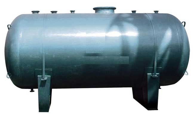 horizontal steel oil tanks