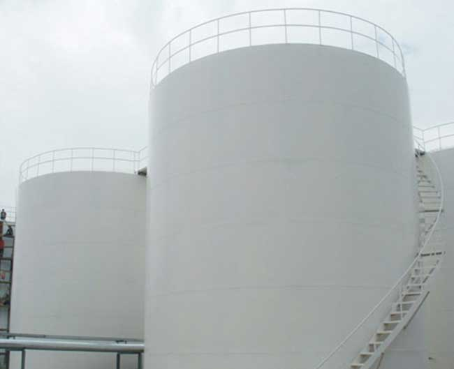 vertical cylinder fixed roof oil tanks