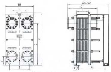 br1.6 plate heat exchanger