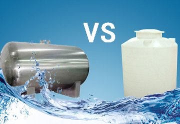 How to choose water tank, Steel or Plastic?