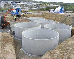concrete oil tanks