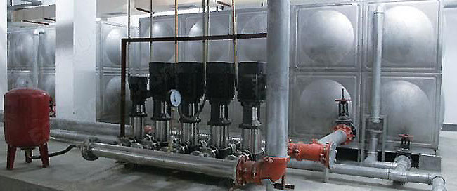 integration station of water tank and pump