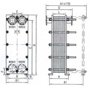 Br0.5 plate heat exchanger structure
