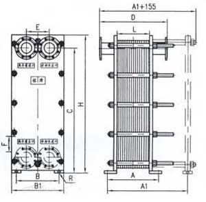 Br0.35 plate heat exchanger structure