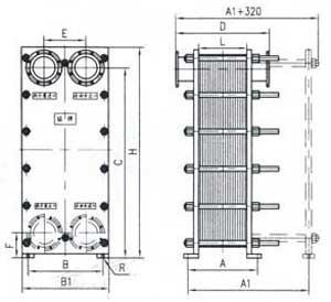 br1.0 plate heat exchanger