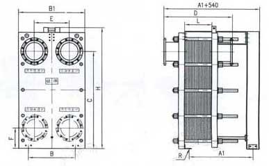 br1.3 plate heat exchanger structure